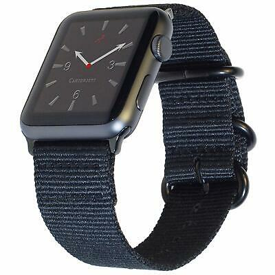 Carterjett Extra Large Nylon NATO Compatible Apple Watch Band 42mm 44mm XL