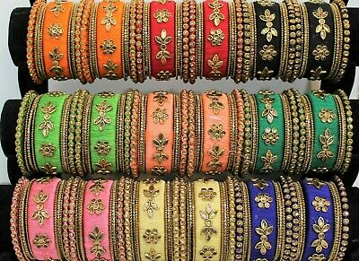 Indian Ethnic Wedding & Partywear Silk Thread Bollywood Designer Bangle Set