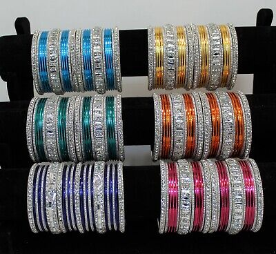 INDIAN PAKISTANI PARTY BRIDAL BANGLES ASIAN BANGLE SET CHURI KANGAN traditional