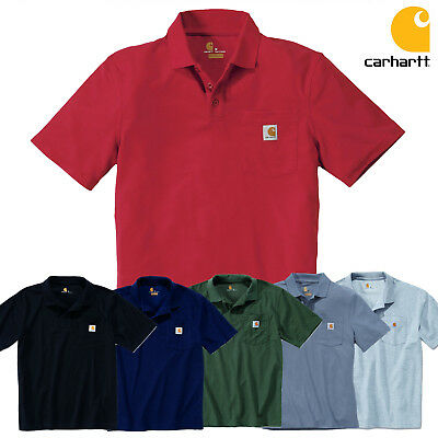 7056b123 Carhartt Polo Workout Pocket Contractor´S Polo Shirt Shirt New SIZE S M L XL  XXL