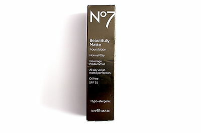 No7 Beautifully Matte Foundation Normal/Oily Coverage Medium/Full Choose Shade: