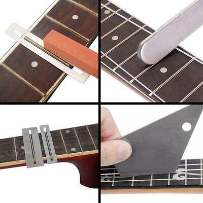 1set Guitar Luthier Tool Guitar Fret Crowning Luthier File Fret Rocker Leveling Tool Fingerboard Guard Sanding Paper Accessories Musical Instruments Sports & Entertainment