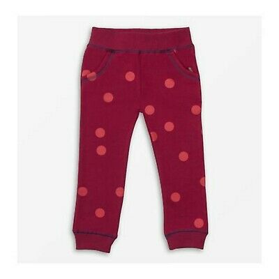 Where's That Bear  Moon Spot Berry Burgundy Joggers 1 - 5 Yrs Brand New RRP £26