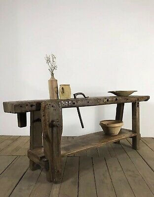 Superb Antique French Farmhouse Workbench