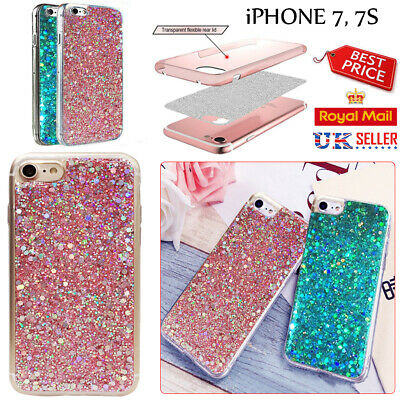 Luxury Bling Slim Sparkly Glitter Shockproof Soft Silicone iPhone 7 Case Cover