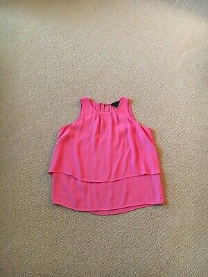 Women's J. Crew Pink Viscose Sleeveless Top, Size 4 Gently Used