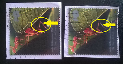 2 Gb Error/variety Used 1St Sg 2139 2000 Millenium Stamps White Shift Ants Legs
