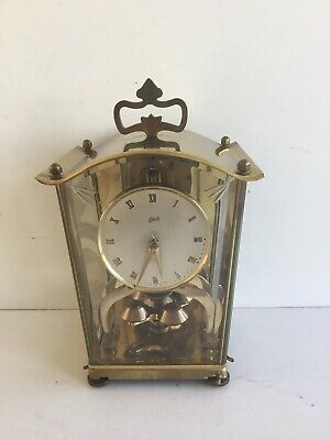 Vintage German Schatz  Brass 400 Day Anniversary Clock