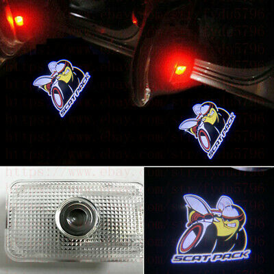 2x Scat Pack Logo LED Door Laser Projector Puddle Lamp For Dodge Charger 2011-19
