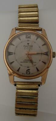 Gents Vintage 1960s Gold Filled 10 Micron ALLAINE 25 Jewels Automatic Watch(LO47