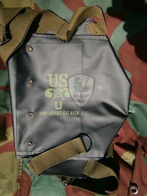 US Porta maschera anti gas impermeabile M5, WW2 American Army D-Day Gas mask bag