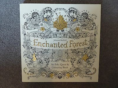 Enchanted Forest: An Inky Quest & Coloring Book by Johanna Bamford