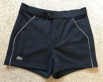 51b29acd5eaa Lacoste Mens Navy Blue Short Shorts New With Tags RRP £80 Size 3 30 Inches