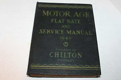 1939-1948 CHILTON's MOTOR AGE FLAT RATE AND SERVICE MANUAL ORIGINAL