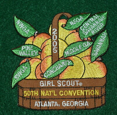 VINTAGE GIRL SCOUT PATCH - 50th GIRL SCOUT CONVENTION - ATLANTA, GEORGIA - 2005