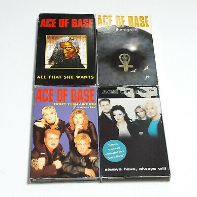 Ace Of Base Cassette Tape Singles Joblot Bundle Wants Turn Around Sign Always