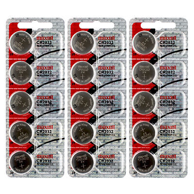3x 5pc Maxell  3V Lithium Coin Cell Battery CR2032 Replaces DL2032 FAST USA SHIP