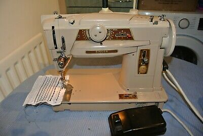 Singer 401G Slant-o-Matic semi industrial multi Decorative stitch sewing machine