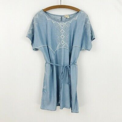 fca506374fa7 Anthropologie Holding Horses Large Petite LP Dress White Sands Tunic  Chambray