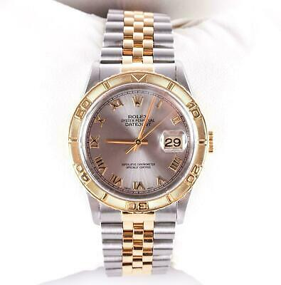 Rolex 18k Yellow Gold & Stainless 1995 Oyster Perpetual Datejust Wrist Watch
