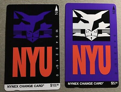 (2) 1995 NYNEX NYU Phone Cards