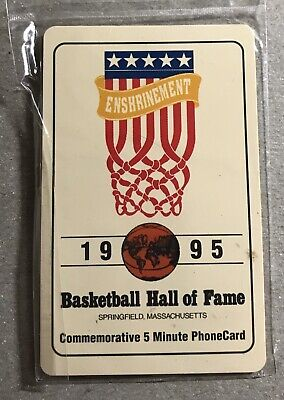 1995 Basketball Hall of Fame Phone Card