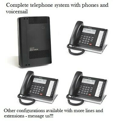 Refurbished Toshiba CIX40 phone system with (3) DP5022SDM phones and Voicemail