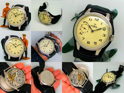 Men's Vintage '40s Soviet Military KIROV 1MChZ Massive Wristwatch.