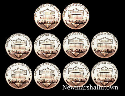 2015 2016 2017 2018 2019 P+D Lincoln Shield Set ~ Business Mint from Bank Roll