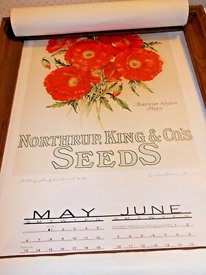 Northrup, King & Co's.seeds Calender Limited Edition Print American Legion Poppy