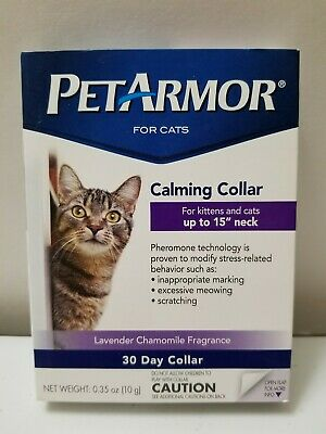 """PetArmor 30 Day Calming Collar For Kittens and Cats up to 15"""" Neck--Pheremones"""