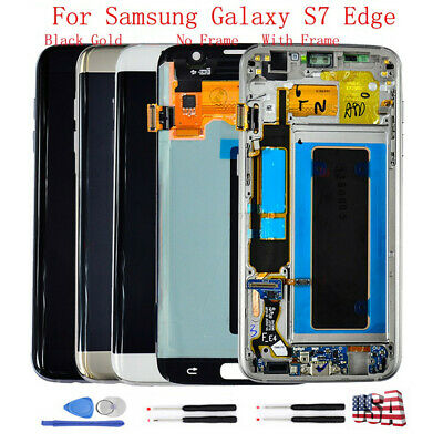 New LCD Digitizer Touch Screen Display + Frame For Samsung Galaxy S7 Edge G935