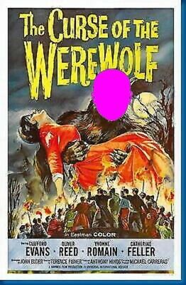 Your Picture Here Werewolf Monster Photo Horror Movie Poster Picture Lobby Card