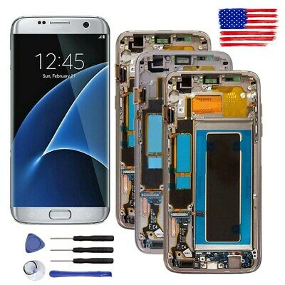 For Samsung Galaxy S7 edge G935V G935P G935A G935T Display LCD Digitizer + Frame