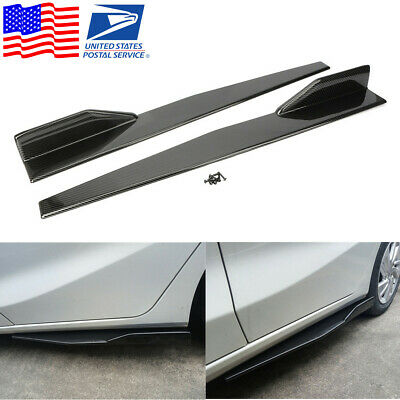 FOR TOYOTA CARBON FIBER ROCKER PANEL TRIM MOLDING 2PC W//5YR WARRANTY  1