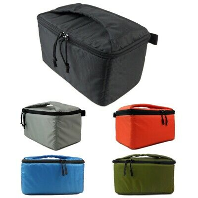 Portable Waterproof DSLR SLR TLR Camera Bag Padded Case Partition Insert Bag