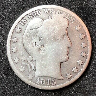 1915-S BARBER HALF DOLLAR - San Francisco Mint - Last Year of Production