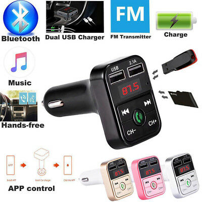 Wireless Radio Player Kit Music Adapter Car Bluetooth Charger USB MP3 LED FM