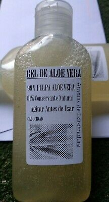 Gel de Aloe Vera barbadensis,100% puro y natural,80 gr. 99% Pulpa 1% conservante