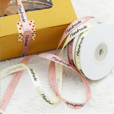 25 Yards Handmade Ribbon Cream Pink Wrapping Silk Satin for Wedding Party New CN