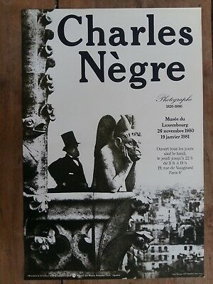 Affiche CHARLES NEGRE Musée du Luxembourg 1980 *
