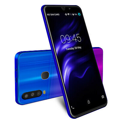 6 Inch New A70 Android 8.1 Smartphone Unlocked Mobile Phone Quad Core Cheap 2019