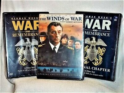 War and Remembrance & Winds Of War: The Complete Series (DVD, 2008, 18-Disc) NEW
