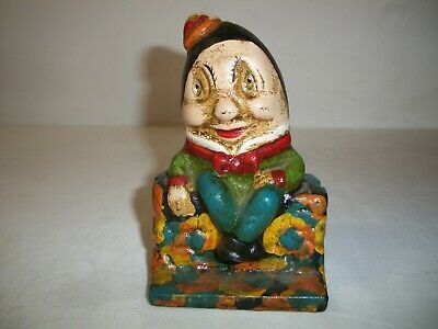 Humpty Dumpty Cast Iron Money Bank Box Collectable **REPRODUCTION**