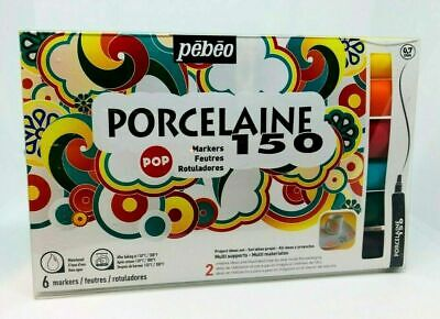 Pebeo Porcelaine 150 Markers 6 Pack 6 x 0.7mm Nibs - BRAND NEW AND SEALED