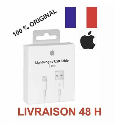 Cable USB chargeur Original Apple Lightning pour iPhone 6s/6/5/5s/5c/SE/7/7 Plu