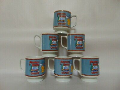Maxwell House Pedestal Coffee Cups (6) - 70'S