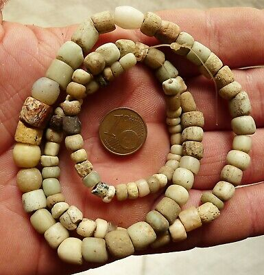50cm Perles Verre Ancien Afrique Collier Mali Antique African Glass Trade Beads