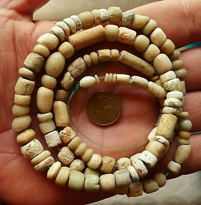 61cm Perles Verre Ancien Afrique Collier Mali Antique African Glass Trade Beads