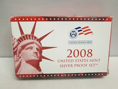 2008 Us Mint Silver Proof Set With Box And Coa